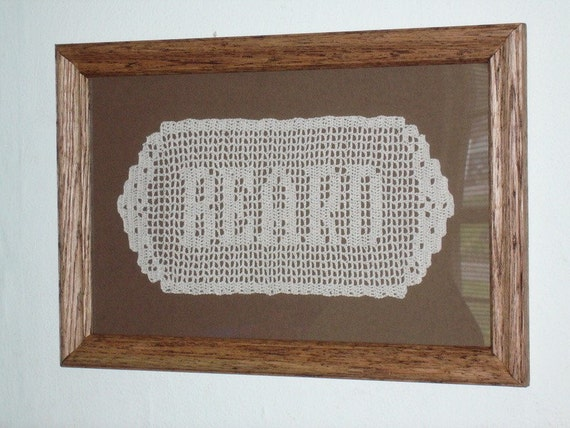 Hand-crocheted Name Doily