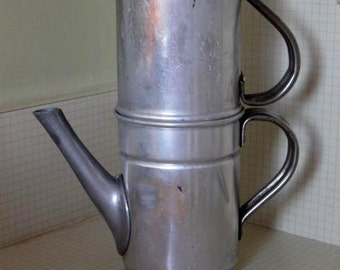 Vintage Camping Coffee Pot and Cup