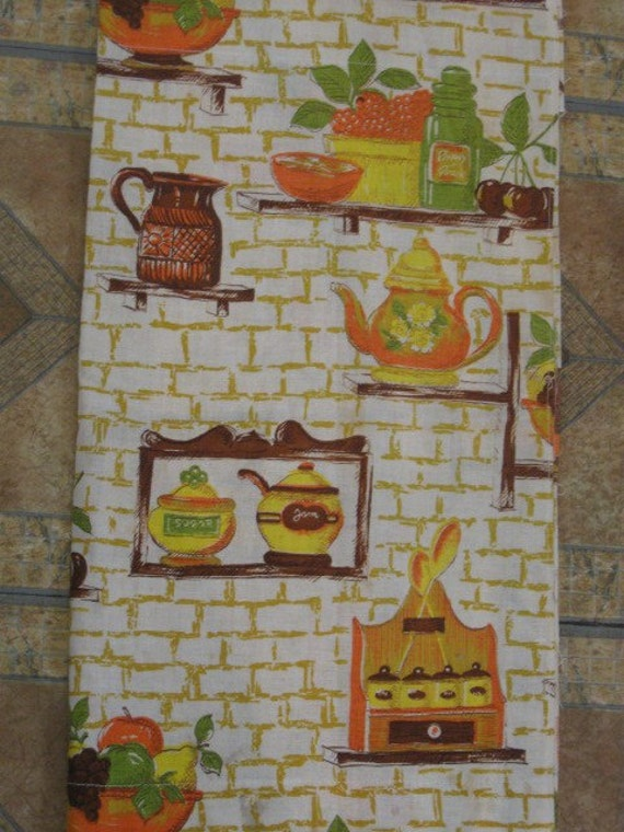 Vintage kitchen curtains by jonscreations on etsy