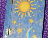 Celestial...Sun, Moon, Stars..Journal, Diary, or Book of Shadows