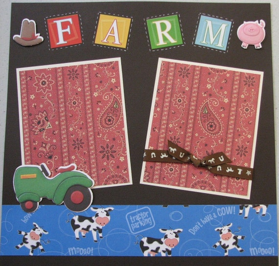 Farm Premade Scrapbook Layout Pages
