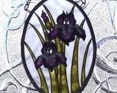 Amethyst Iris Suncatcher