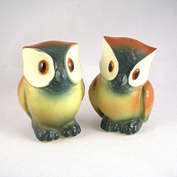 Vintage Owl Salt & Pepper Shakers Japan