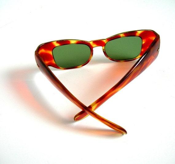 Vintage Sunglasses Frames Tortoiseshell Plastic Unmarked 1940-50s