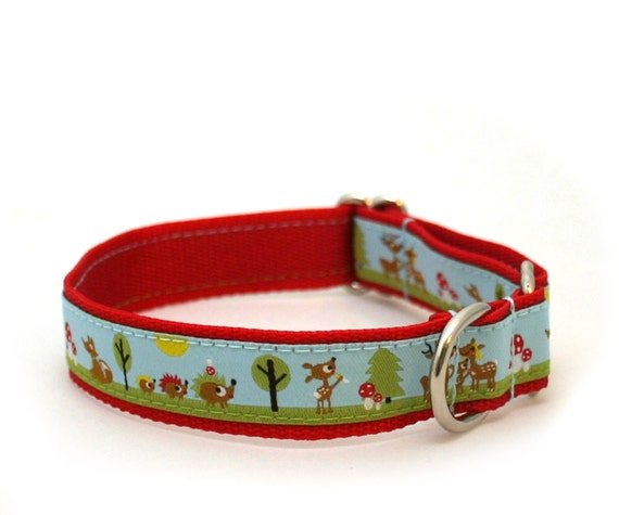 """3/4"""" martingale collar The Happy Magic Forest martingale dog collar"""