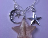 Stars and Moons Charm Necklace