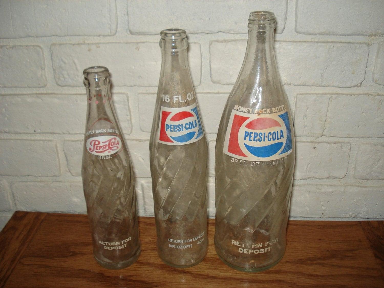 Old Pepsi Glass Bottles 21