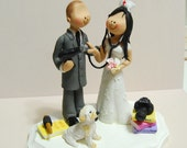 Wedding Cake Topper - Hairdresser and Nurse