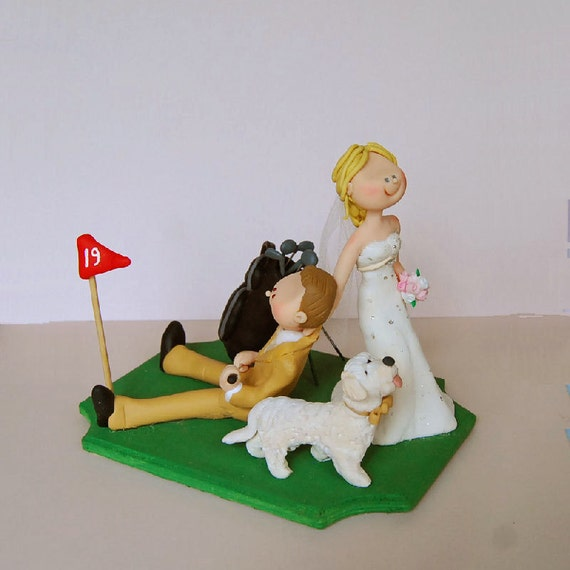 golf wedding cake topper items similar to golf wedding cake topper on etsy 14849