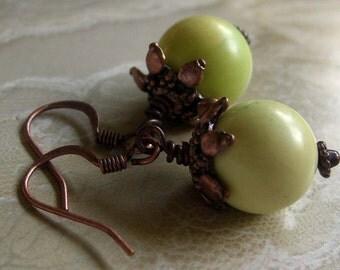 Little Green Turquoise Apples Earrings