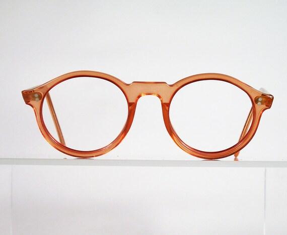 Vintage PRO DESIGN Orange Round Eyeglass Frames