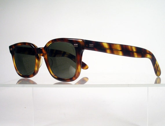 Vintage American Optical Calobar Polaroid Tortoise Sunglasses