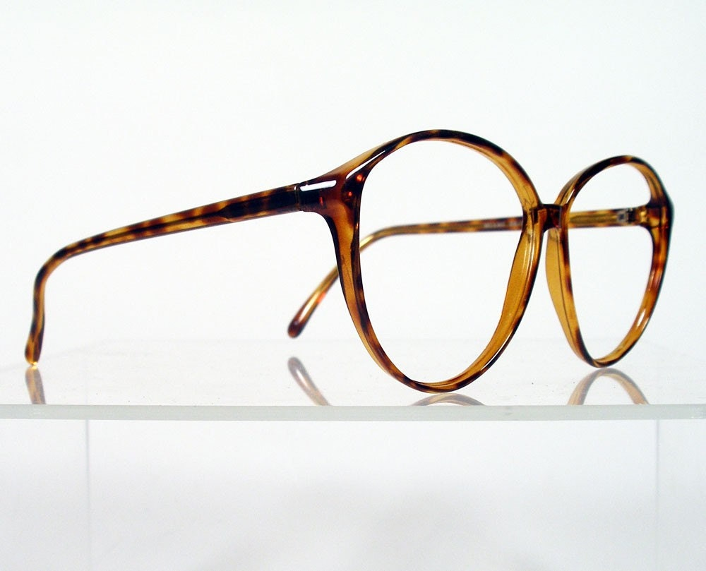 Eyeglass Frames Fairview Heights Il : Vintage 1980s Womens Tortoise Eyeglass Frames