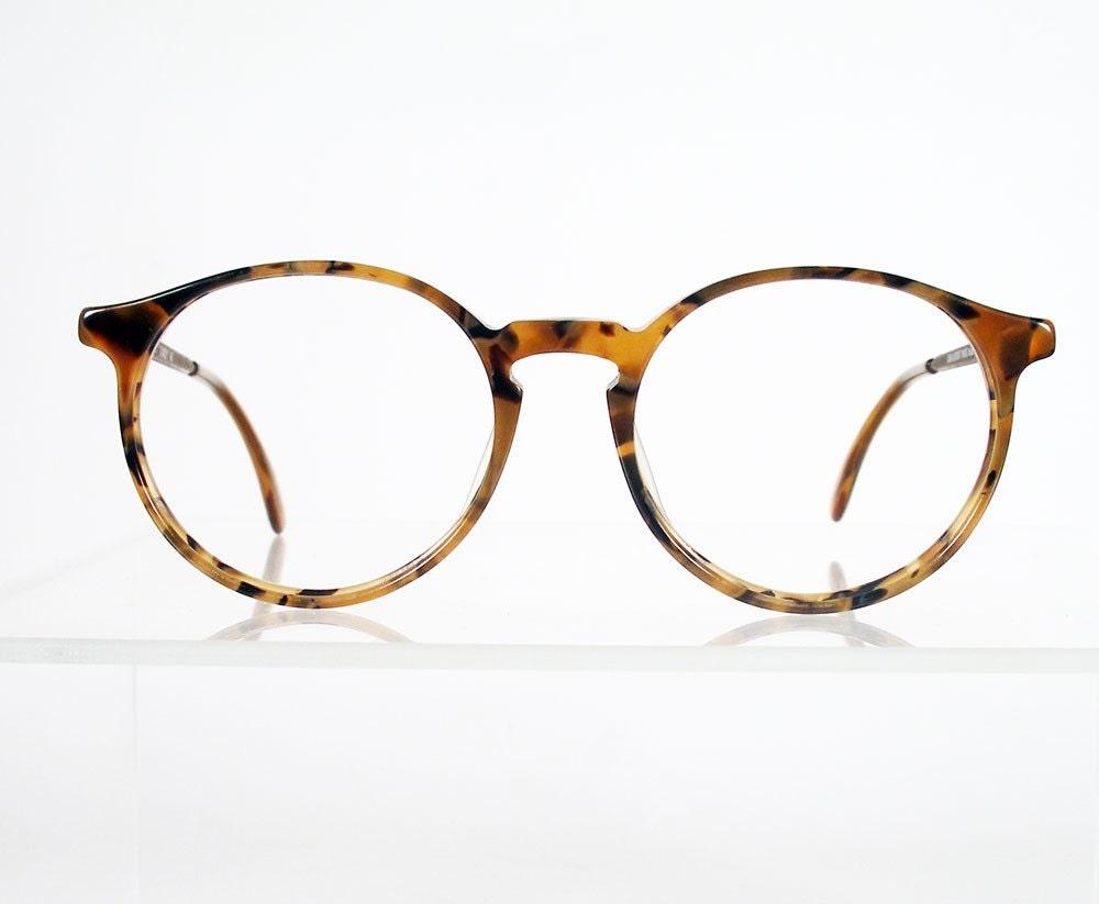 Eyeglass Frames Fairview Heights Il : Vintage 1980s JEAN LAFONT PARIS Dandy Round Tortoise Eyeglass