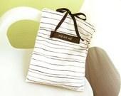Travel Underwear Bag, Striped Cotton Blend Linen
