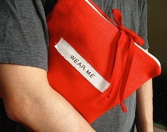 Travel Underwear Bag, Red