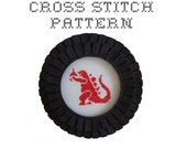 DIY Godzilla - .pdf Original Cross Stitch Pattern - Instant Download