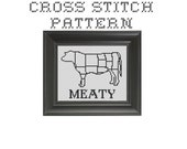 DIY Butcher Chart Cow - .pdf Original Cross Stitch Pattern - Instant Download