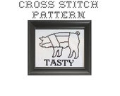 DIY Butcher Chart Pig - .pdf Original Cross Stitch Pattern - Instant Download