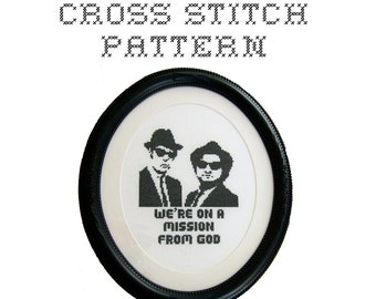 DIY Blues Brothers - .pdf Original Cross Stitch Pattern - Instant Download