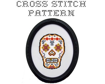DIY Sugar Skull (version 2) - .pdf Original Cross Stitch Pattern - Instant Download