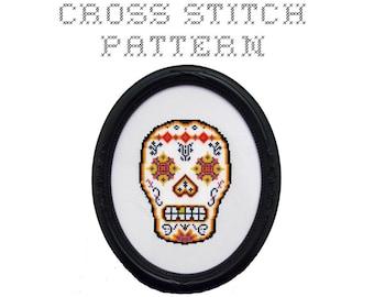 DIY Sugar Skull (version 2) - .pdf Original Cross Stitch Pattern - Instant Download