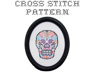 DIY Sugar Skull (version 1) - .pdf Original Cross Stitch Pattern - Instant Download