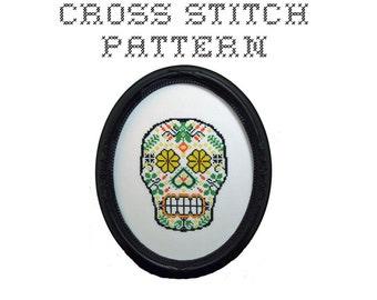 DIY Sugar Skull (version 4) - .pdf Original Cross Stitch Pattern - Instant Download