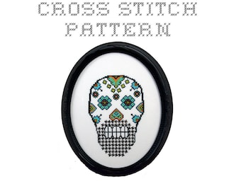 DIY Sugar Skull (version 8) - .pdf Original Cross Stitch Pattern - Instant Download