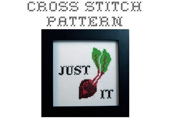 DIY Just Beat It  - .pdf Original Cross Stitch Pattern - Instant Download