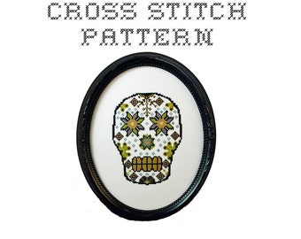 DIY Sugar Skull (version 5)  - .pdf Original Cross Stitch Pattern - Instant Download