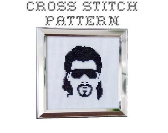 DIY Kenny Powers - .pdf Original Cross Stitch Pattern - Instant Download