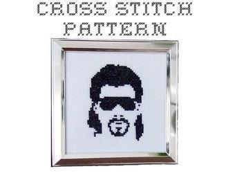 DIY Kenny Powers - .pdf Original Cross Stitch Pattern - Instant Download