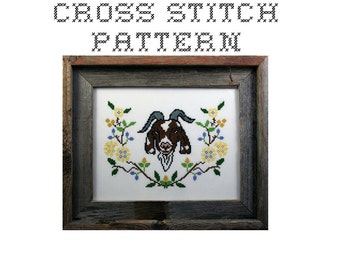 DIY Ode to the Goat - .pdf Original Cross Stitch Pattern - Instant Download