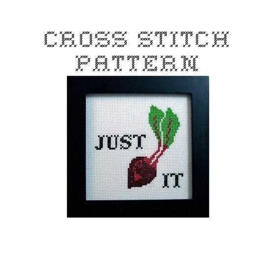 DIY Just Beat It  - .pdf Original Cross Stitch Pattern - Instant Download