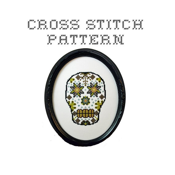 DIY Sugar Skull (version 5)  - .pdf Original Cross Stitch Pattern - Instant Download