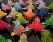 100 Unique Origami Peacock in multi pattern and color
