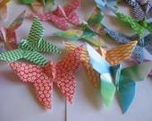 100 Origami Butterfly in multi pattern