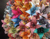 Prefect First Anniversary Valentine gift - set of 60 origami Lilies in multi pattern and color as shown
