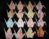 Set of 16 Origami Cranes as shown
