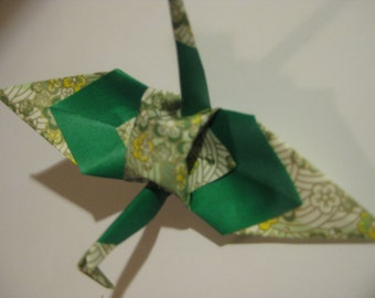 50 Triple Layer Origami Crane in 6 inches any color shade or pattern you pick