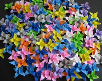 "Set of 80  Origami flowers folded from 3"" origami paper"