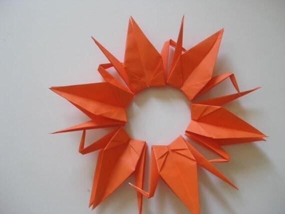 "500 Origami Cranes 6"" Dark Orange Color"