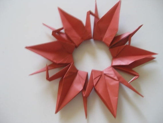 Set of 100 Origami 6 inches Cranes in brown color shade