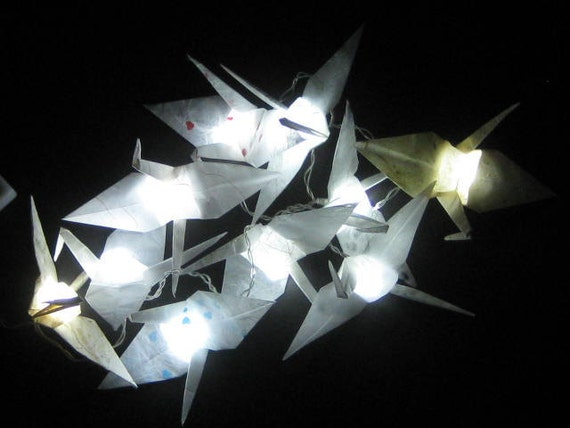 Items similar to Origami Crane String Light - Battery Operated on Etsy
