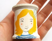 Hand Painted Cotton Spool - 10