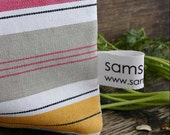 1 Reusable sandwich snack  bag in organic cotton - Stripes