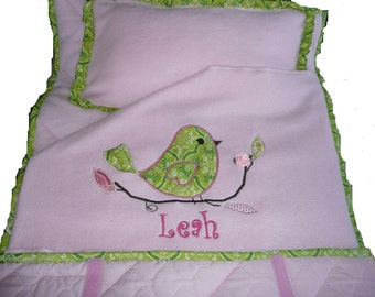 Love Bird NAP MAT ONLY in Anna Griffin Fabric All Custom Hand Made  You Choose the Fabrics You Like