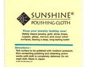 Sunshine Polishing Cloth for removing tarnish