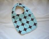 CLEARANCE SALE - Blue Disco Dot Baby/Toddler Bib